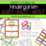Wonders Kindergarten READ IT, BUILD IT, WRITE IT High Frequency Word Practice