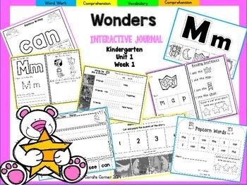 Wonders Kindergarten Interactive Journal Unit 1 Week 1