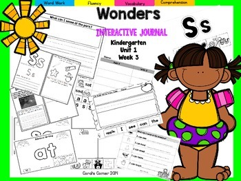Wonders Kindergarten Interactive Journal Unit 1 Week 3
