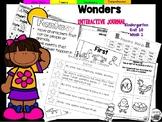 Wonders Kindergarten Interactive Journal Unit 10-Week 1