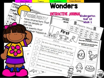 Wonders Kindergarten Interactive Journal Unit 10-Week 1