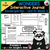 Wonders Kindergarten Interactive Journal Unit 10-Week 3