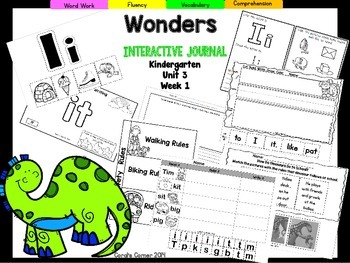 Wonders Kindergarten Interactive Journal Unit 3 Week 1