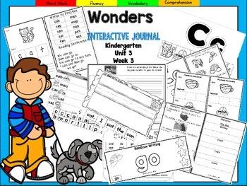 Wonders Kindergarten Interactive Journal Unit 3 Week 3
