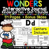 Wonders Kindergarten Interactive Journal Unit 4 BUNDLE