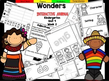 Wonders Kindergarten Interactive Journal Unit 4 Week 2