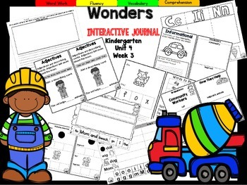 Wonders Kindergarten Interactive Journal Unit 4 Week 3