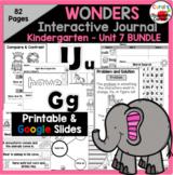 Wonders Reading Kindergarten Interactive Notebook Unit 7 Bundle Google Digital