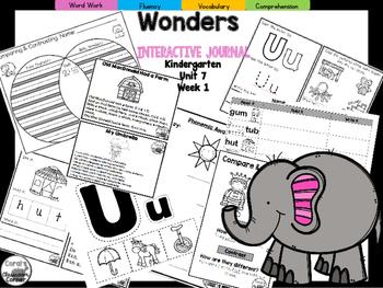 Wonders Kindergarten Interactive Journal Unit 7-Week 1