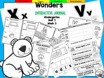 Wonders Kindergarten Interactive Journal Unit 7-Week 3