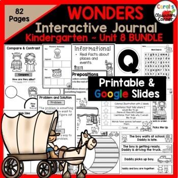 Wonders Kindergarten Interactive Journal Unit 8 BUNDLE