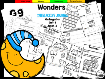 Wonders Kindergarten Interactive Journal Unit 8-Week 3