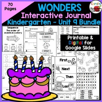 Wonders Kindergarten Interactive Journal Unit 9 BUNDLE