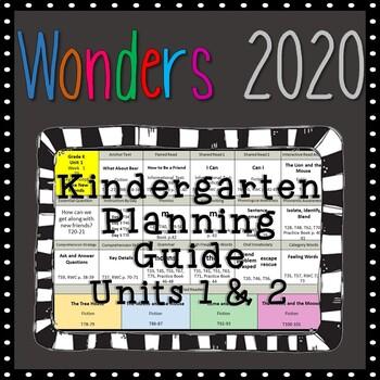Wonders Kindergarten Planning Guide, Units 1 & 2, Wonders 2020