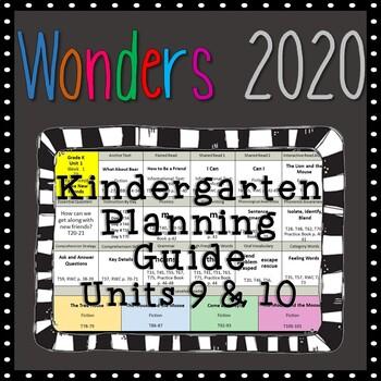 Wonders Kindergarten Planning Guide, Units 9 & 10, Wonders 2020