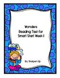 FREEBIE Wonders Kindergarten Reading Test Smart Start Week 1 with Answer Key
