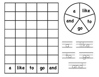 Wonders Kindergarten Sight Word Center