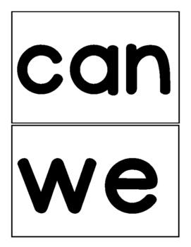 Wonders Kindergarten Sight Word Flash Cards