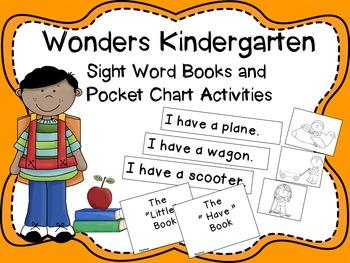 Wonders Kindergarten Sight Word Readers and Pocket Chart Activities