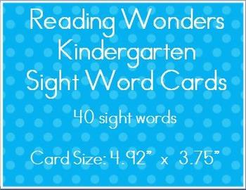 Wonders Kindergarten Sight Words