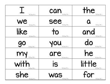 Wonders Kindergarten Sight Words Flash Cards by My Cat Ate Their ...