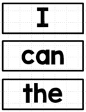 Wonders Kindergarten Sight Words for Word Wall