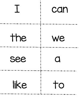 McGraw Hill Wonders Kindergarten Sight Words! (plus color and number words)