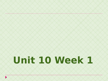 Wonders Kindergarten Unit 10 Week 1