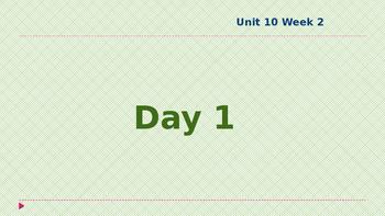 Wonders Kindergarten Unit 10 Week 2