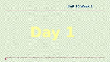 Wonders Kindergarten Unit 10 Week 3
