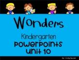 Wonders, Kindergarten, Unit 10, Weeks 1-3, POWERPOINTS/ Distance Learning