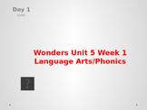 Wonders Kindergarten Unit 5 Week 1