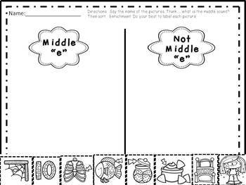 Phonics, Short E, Handwriting, Rhyming, Sight Words: Word Work & More