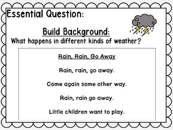 Wonders Kindergarten Unit 6 Week 2 Power Point Rain