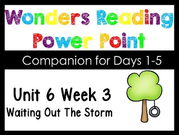 Wonders Kindergarten Unit 6 Week 3 Power Point Waiting Out The Storm