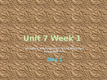 Wonders Kindergarten Unit 7 Week 1