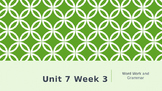 Wonders Kindergarten Unit 7 Week 3