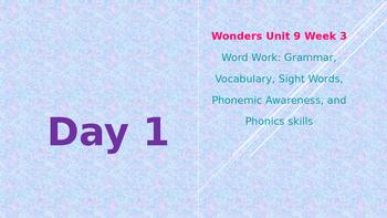 Wonders Kindergarten Unit 9 Week 3