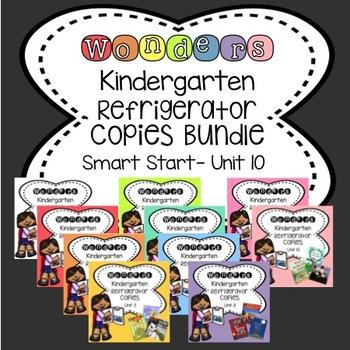 Wonders Kindergarten Smart Start & Unit 1- 10 Bundle Refrigerator Copy