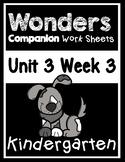 Wonders Kindergarten Worksheets Unit 3 Week 3 Please Take