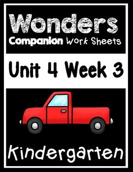 Wonders Kindergarten Worksheets Unit 4 Week 3 Roadwork!
