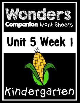 Wonders Kindergarten Worksheets Unit 5 Week 1 My Garden