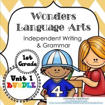 Wonders Writing 1st grade Language Arts Writing and Grammar Unit 1
