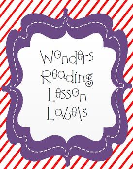 Reading Wonders Lesson Labels