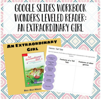 Wonders Leveled Reader Activity for Google Slides - Unit 4, Week 1
