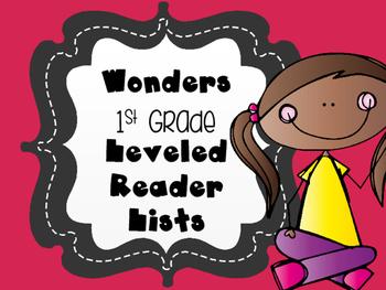 Leveled Reader Book List for Reading Wonders 1st grade