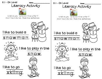 Wonders Leveled Reader Literacy Activities Unit 6