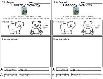 Wonders Leveled Reader Literacy Activities Unit 7