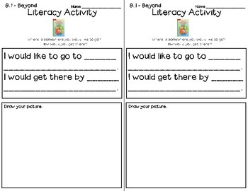 Wonders Leveled Reader Literacy Activities Unit 8