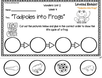 Wonders Leveled Reader Response Unit 2: Animal Discoveries (2nd Grade)